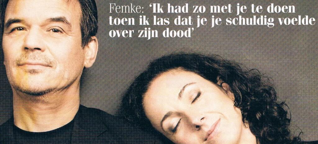 Politica Femke Halsema en ex-Doe Maar Ernst Jansz