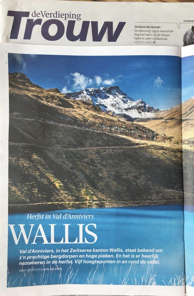 Favoriet van veel Zwitsers: Val d'Anniviers, Valais, in de herfst