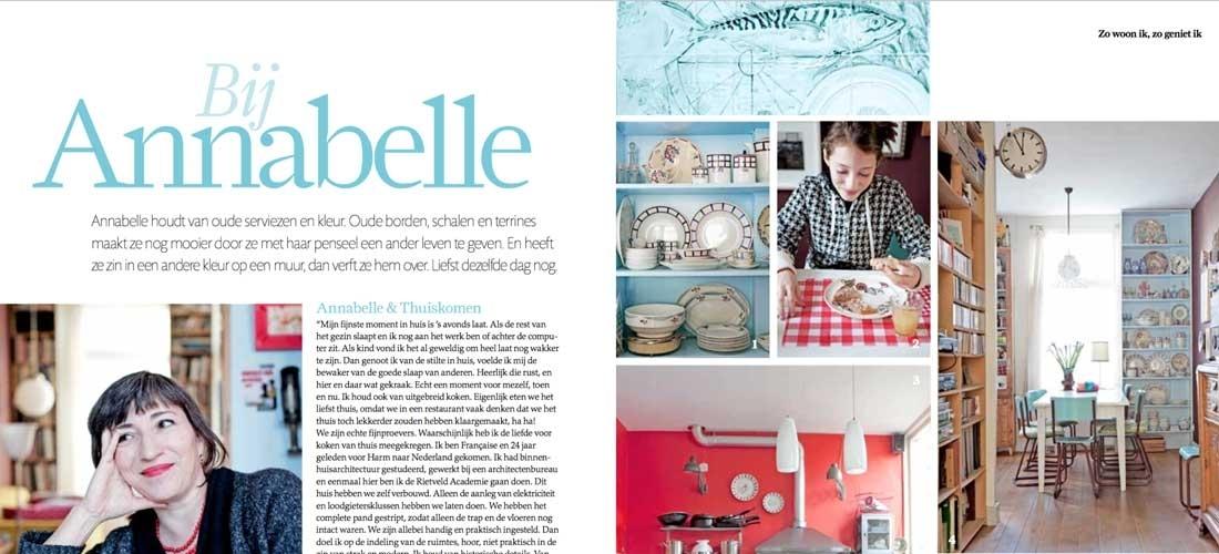 Binnenkijken in huis van kunstenares Annabelle