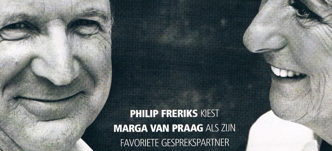 Nieuwslezers Philip Freriks en Marga van Praag